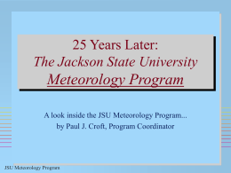 Preparing Minority Atmospheric Scientists at Jackson State University