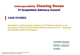 Case Study - Interoperability Clearinghouse