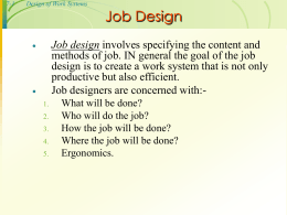 7-2 Design of Work Systems