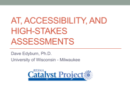 AT, Accessibility, and High