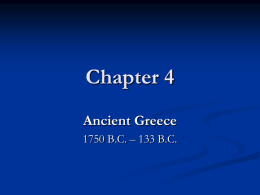 Chapter 4 Ancient Greece