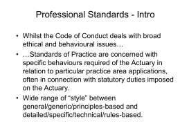 The PSA Code of Conduct