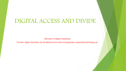 Digital Access and Divide