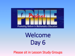 PRIME+ Day 6 PPT File