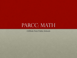 PARCC: MAth - Cliffside Park School District