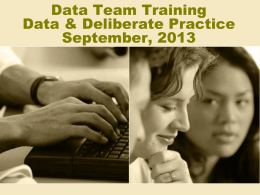 Data Team Training - Santa Rosa County School District
