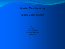 riordan manufacturing recommendations essay Riordan manufacturing is an industry leader in plastic injection molding with plants in georgia, michigan and now china with the company's expansion into a global market, the electronic commerce (e-business) will be a beneficial form of commerce that is currently flourishing in the modern world of global business.