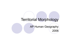Territorial Morphology File