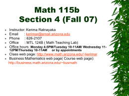 Math 115a – Section 2
