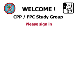 CPP/FPC Classes - APA Northstar Chapter