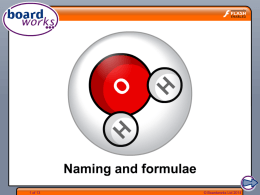 Naming and formulae