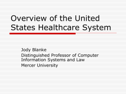 Overview of the U.S. Healthcare System
