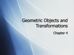 Geometric Objects and Transformations