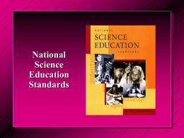 Review of the National Science Education Standards