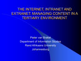 the internet, intranet and extranet
