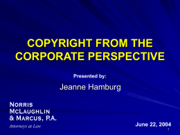 Copyrighting Published Works