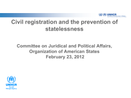 Statelessness > Department of International Law > OAS