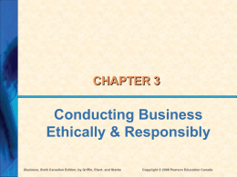 Ch 3 - Ethics and Social Responsibility