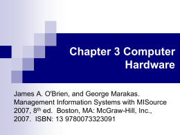 Chapter 3 Computer Hardware