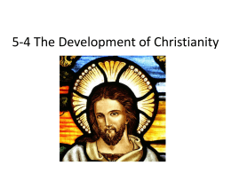 5-4 The Development of Christianity