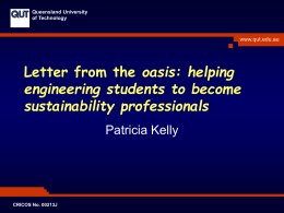 helping engineering students to become sustainability professionals