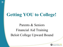 Senior Financial Aid Presentation