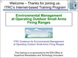 Environmental Management at Operating Outdoor Small Arms Firing