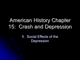 American History Chapter 15: Crash and Depression