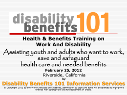 by Disability Benefits 101 Information Services