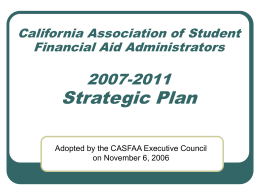 CASFAA Strategic Planning Survey Results