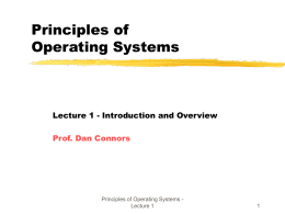 ICS 143 - Introduction to Operating Systems