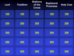 Jeopardy - Port Youth Ministry
