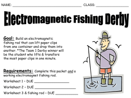 Worksheet 1 – Planning for Your Electromagnetic Fishing Pole