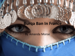 Burqa Ban In France