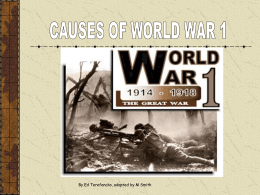 Causes of World War 1 - 20th Century History