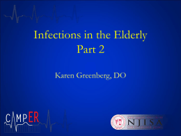 Infections in the Elderly