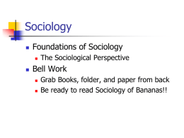 Sociology - West Point Public Schools