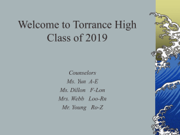 1 year - Torrance High School