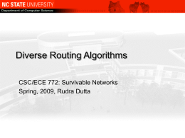 Diverse Routing Algorithms