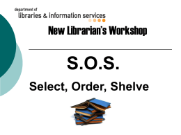 Collection Development for School Libraries
