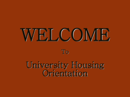 Answer - University Housing - University of South Carolina