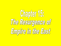 15 - The Resurgence of Empires in East Asia