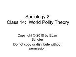 Class 14: Theories of Globalization