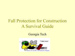 OSHA - Fall Protection for Construction/A Survival Guide