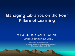 Managing Libraries on the Four Pillars of Learning