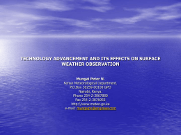technology advancement and its effects on surface weather