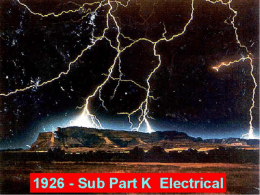 Sub Part K Electrical - Installation Safety Requirements