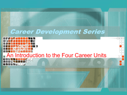Introduction to the Career Development Series