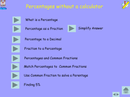 Percentages without a calculator