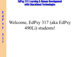 PowerPoint Presentation - TEP 231: New